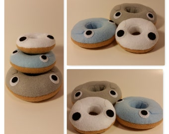 Felt Totoro Donut Plushies