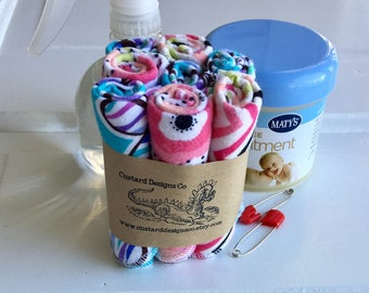 Cloth wipes- flannel wipes- baby washcloths- reusable cloth wipes