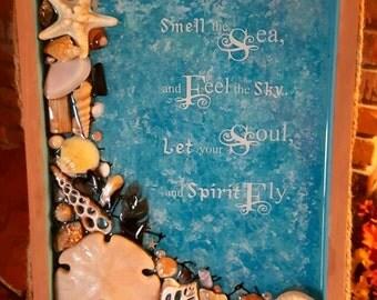 Resin and Seashell Shadowbox