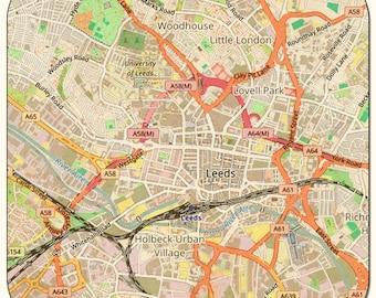 Leeds Vintage Map Coasters