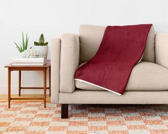 Maroon Throw Blanket Maroon Sherpa Fleece Blanket Deep Red Throw Blanket Sofa Blanket Couch Blanket Cozy Blanket Soft Throw Cozy Throw
