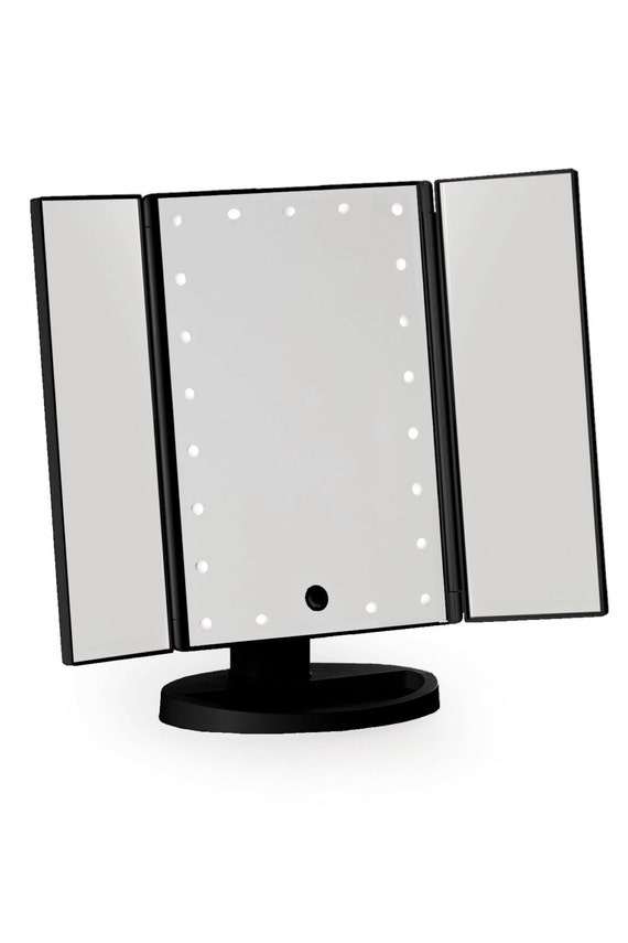 Black Three Way Vanity Mirror