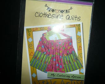 Clothesline Quilts My Coloring Apron Sewing Pattern