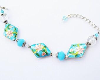 Vibrant Blue Crystal Bracelet