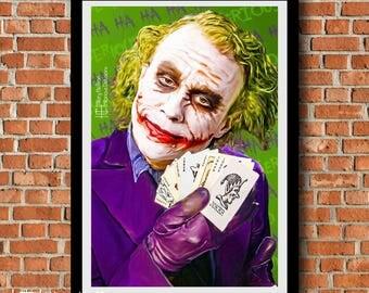 "Joker ""Pick a Card"" Digital Painting Print"