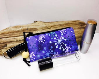 Single Essential Oil Bag, Lipstick Case, Orange Vape Juice Pouch, Small Zipper Pouch, Lip Balm Case, USB Case