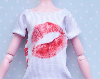 Monster doll clothes Handmade KISSES T-shirt fits EAH\MH