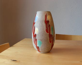 Jasba 101/22 vase fat lava, West German pottery