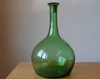 Vintage green apple juice bottle
