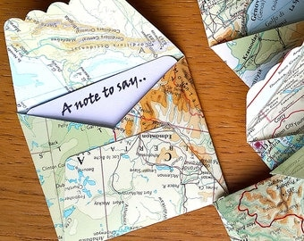 Travel theme gift tags heart shaped world map gift tags mini map envelopes travel theme gift card 6 atlas note cards travel theme gumiabroncs