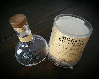 Monkey Shoulder whiskey candle