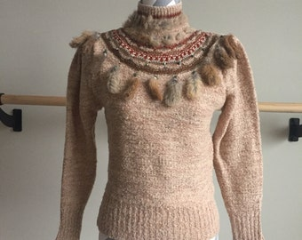 Vintage 1970's Lucky Turtleneck Sweater
