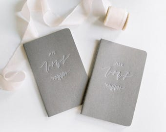 Letterpress Vow Journals (Set of 2)