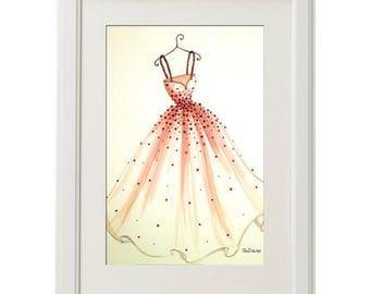 ORIGINAL Fashion Illustration-My Dress
