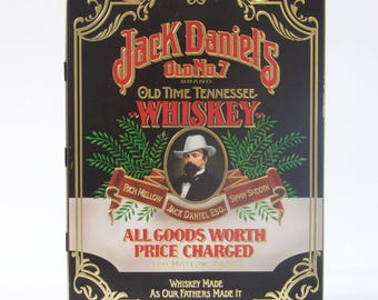 Vintage Jack Daniel's collectable Old No 7 Brand Old Time Whiskey Tin Box