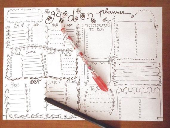 garden journal printable planner gardening agenda gardener