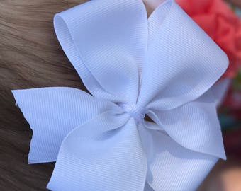 White infant/toddler headband