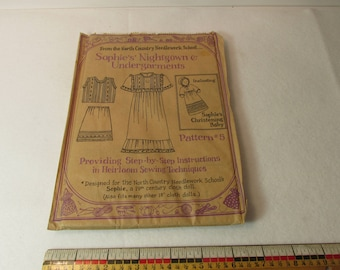 Doll Clothes Pattern Sophie's #5 Folk Art Nightgown Underarments 19th Century  For 18 inch  Dolls