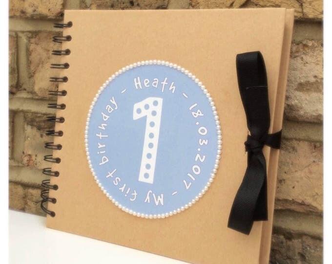 Personalised Scrapbook Birthday album | Children's birthday scrapbook | Birthday scrapbook | Memories | Guest book.