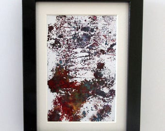 Original Mini Acrylic Painting, Abstract Art, Roots, Forest, Trees