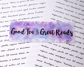Good Tea & Great Reads Bookmark- Bookish gifts