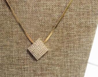 Lady Remington Gold Rhinestone Necklace