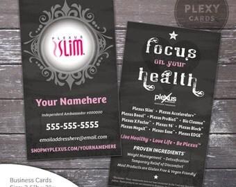 Plexus Slim Chalkboard Business Cards [Printed & Shipped]