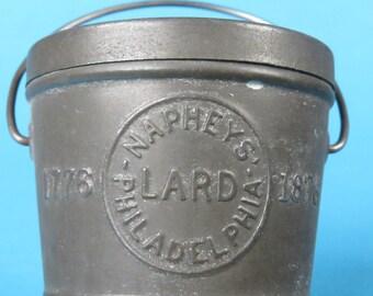 Napheys' Leaf Lard tin pail Philadelphia Centennial 1876