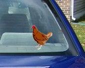 Chicken Car Decal, Chicken car sticker, chicken windown decal, chicken window sticker, hen car decal, hen car sticker, car window decal