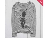 Woman Graphic Tee Long Sl...