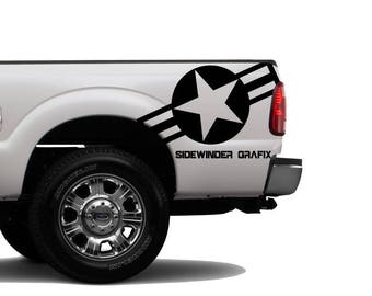 US Airforce STAR Vinyl Vehicle jeep Decal WWI WW2 Army Military