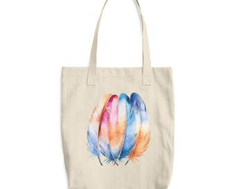 Graphic Tote Bag - Tote Bag - Feather Tote - Feather Tote Bag