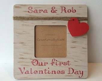 First Valentine's Day, Personalized Photo Frame