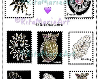 Season of The Witch Stamps and Gears Set