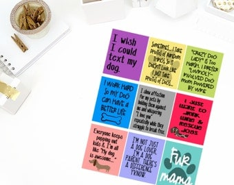Dog Mom #2 Quotes Stickers! Perfect for your Erin Condren Life Planner, calendar, Paper Plum, Filofax!