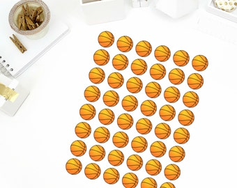 Basketball Stickers! Perfect for your Erin Condren Life Planner, calendar, Paper Plum, Filofax!