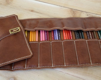 Leather Pencil Roll NO NAME PLATE