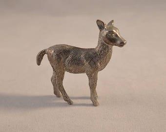 "Small Metal Deer Figurine – 2"" Tall"