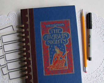 Tales From The Arabian Nights - vintage altered hardcover Arabian Nights book journal
