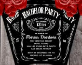 Jack Daniel's Style Bachelor Party Invitation