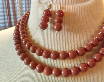 Simple African Beaded Necklace Sets