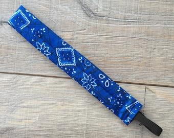 Blue Skinny headband thin fabric headbands preppy headband 1 inch headband headbands headbands for women and girls  cute