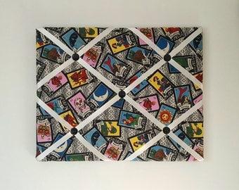 Tarot Theme French Memo Board - Mystic Theme Fabric Ribbon Message Board - Tarot Pin Board - Memory Board - Bulletin Board - Vision Board