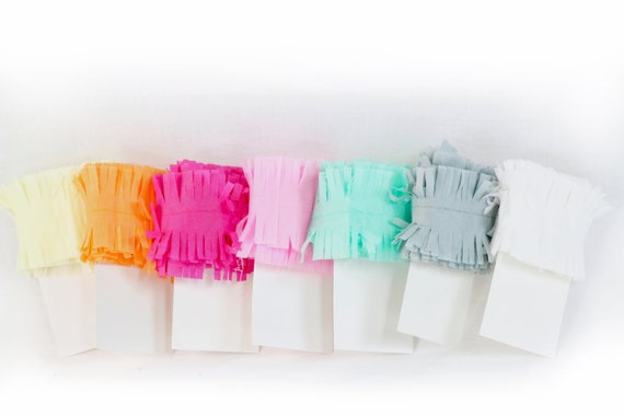 10ft Fringe Streamers, Pastel Tissue Paper Garland, Fringe Garland, Photo Backdrop, Crepe Paper, Party Decor, Wedding Decor, Baby Shower
