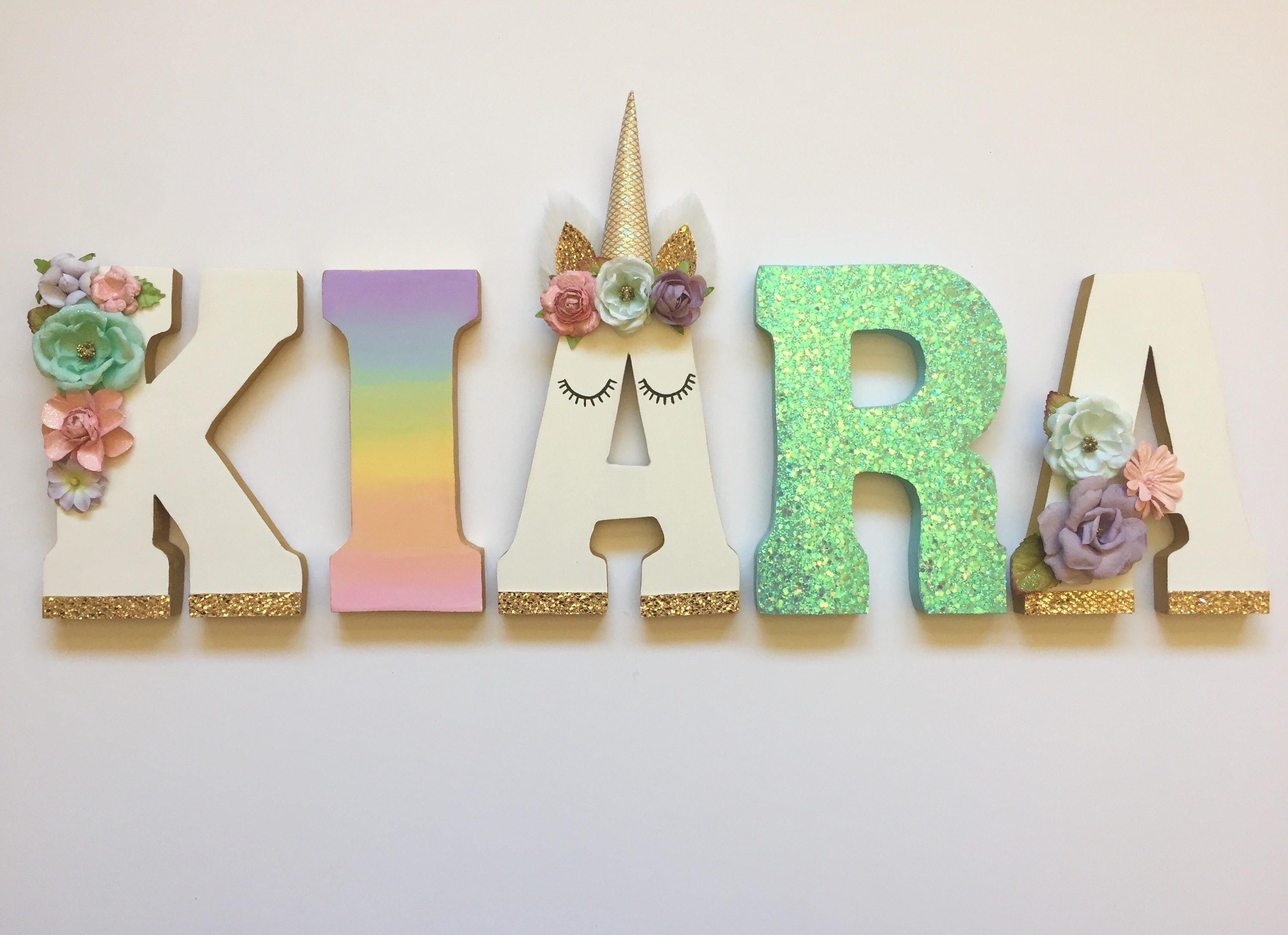 Unicorn Themed Letters - Home Decor - Party Decorations