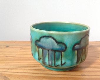 Thunderstorm porcelain planter