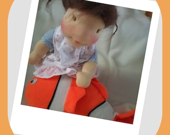 Soft sculpture DOLL WALDORF STYLE 30 cm