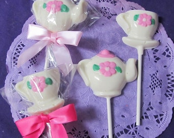 Teacup Tea party cup chocolate lollipops