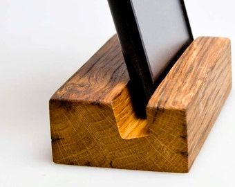 iPhone stand. Wood iPhone stand. Wooden iPhone Stand. Walnut iPhone Stand.
