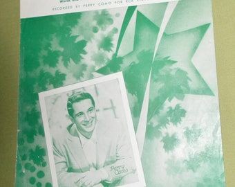 1957  Sheet Music  Round and Round  Recorded By Perry Como